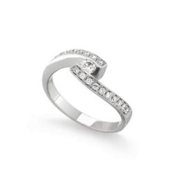 Inel de logodna din aur 18K cu diamante 0,34 ct., model Orsini 1463G