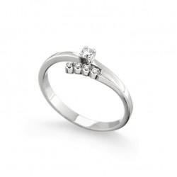 Inel de logodna din aur 18K cu diamante 0,10 ct., model Orsini 1623G