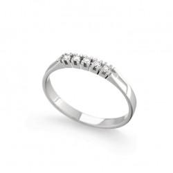 Inel din aur 18K cu diamante 0,08 ct., model Orsini 1624G-1