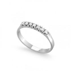 Inel din aur 18K cu diamante 0,07 ct., model Orsini 1632G-0