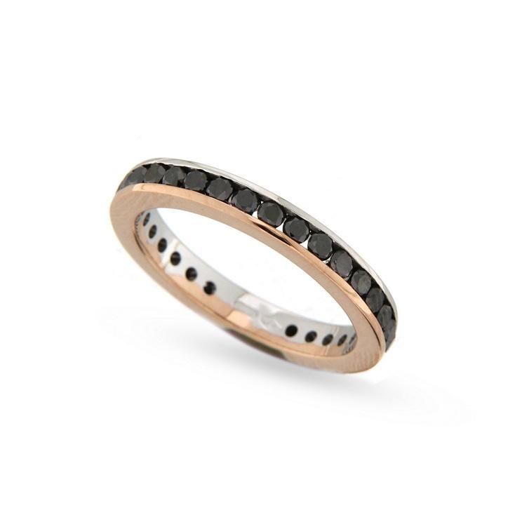 Inel eternity din aur 18K cu diamante negre 1,35 ct., model Orsini 1770G-N