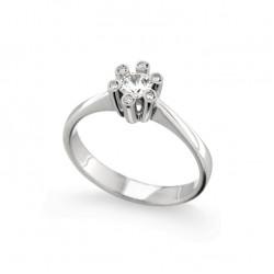 Inel de logodna din aur 18K cu diamante 0,27 ct., model Orsini 2212G