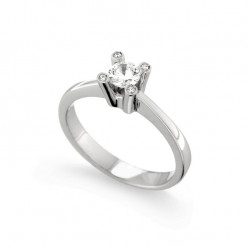 Inel de logodna din aur 18K cu diamante 0,32 ct., model Orsini 2213G