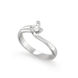 Inel de logodna din aur 18K cu diamante 0,25 ct., model Orsini 2397G