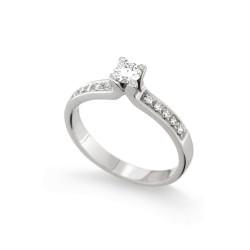 Inel de logodna din aur 18K cu diamante 0,34 ct., model Orsini 2400G