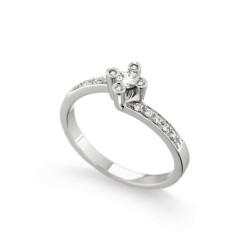Inel de logodna din aur 18K cu diamante 0,28 ct., model Orsini 2401G