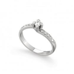 Inel de logodna din aur 18K cu diamante 0,22 ct., model Orsini 2402G