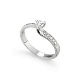 Inel de logodna din aur 18K cu diamante 0,23 ct., model Orsini 2403G
