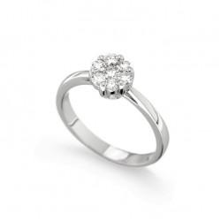 Inel de logodna din aur 18K cu diamante 0,42 ct., model Orsini 2412G-G