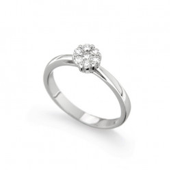 Inel de logodna din aur 18K cu diamante 0,23 ct., model Orsini 2412G-P