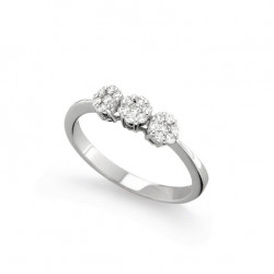 Inel din aur alb 18K cu diamante 0,27 ct., model Orsini 2413G-P