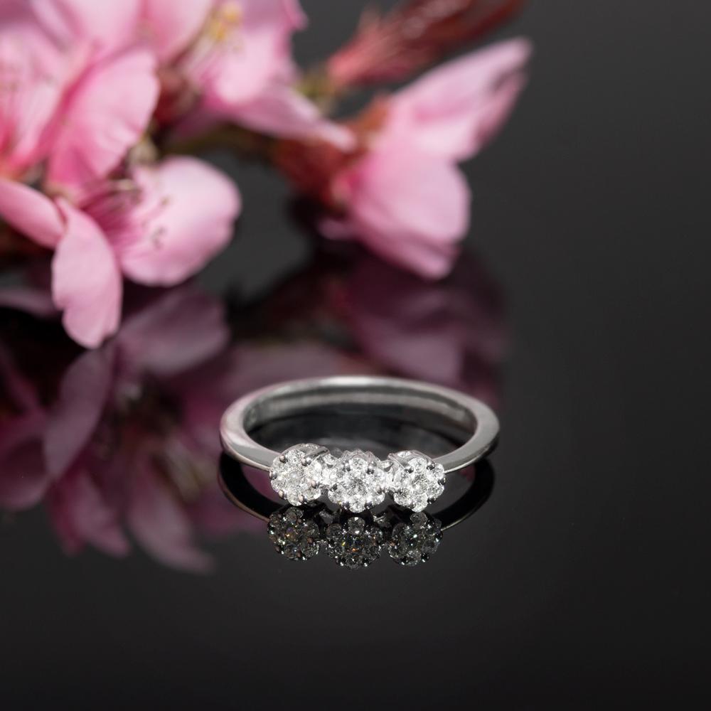Inel din aur 18K cu diamante 0,27 ct., model Orsini 2413G-P