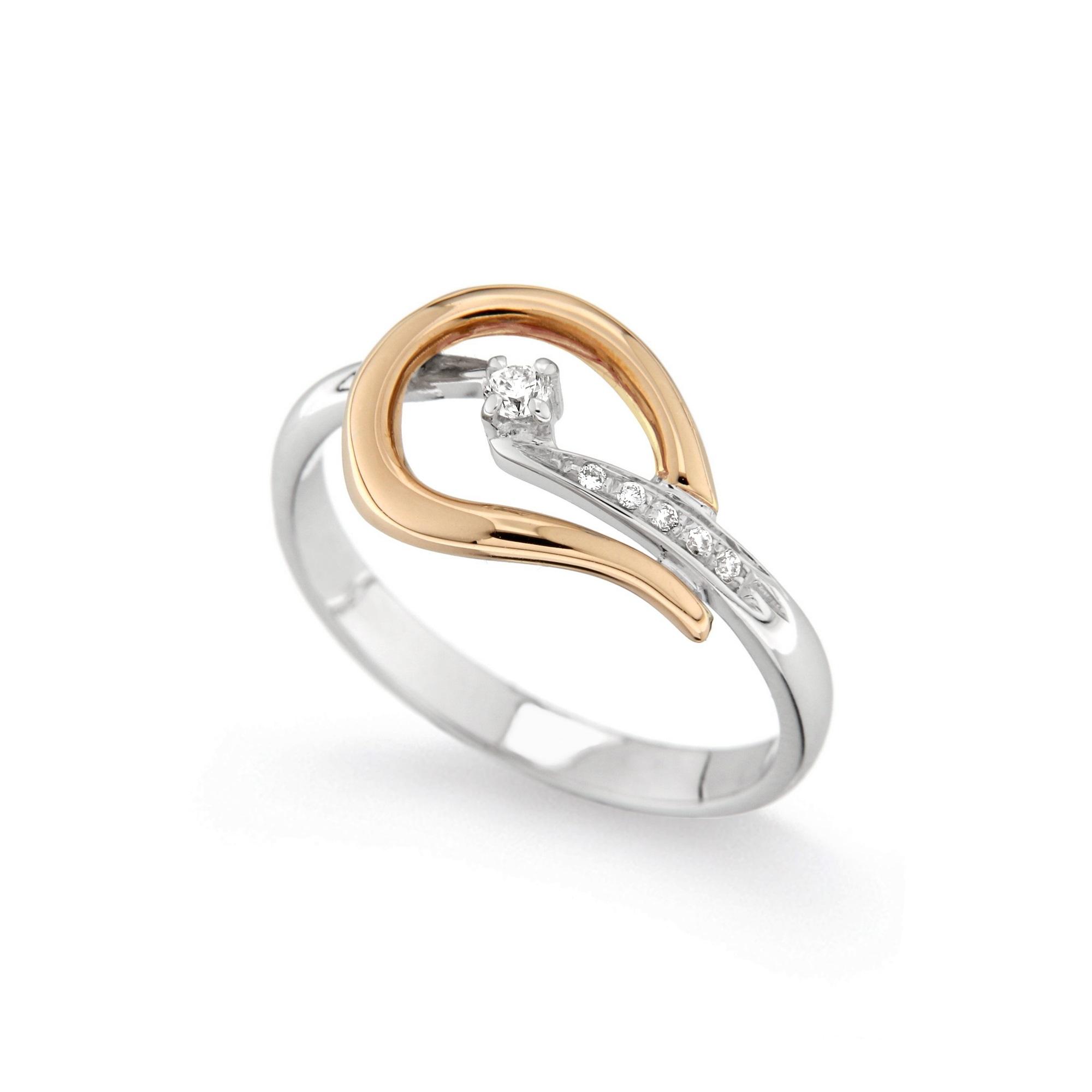 Inel de logodna din aur 18K cu diamante 0,09 ct., model Orsini 2441G