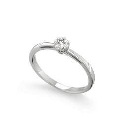 Inel de logodna din aur 18K cu diamante 0,09 ct., model Orsini 2471G