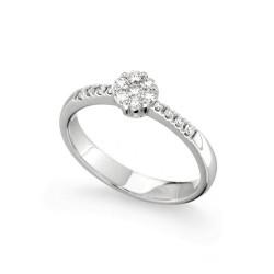 Inel de logodna din aur 18K cu diamante 0,31 ct., model Orsini 2479G-M