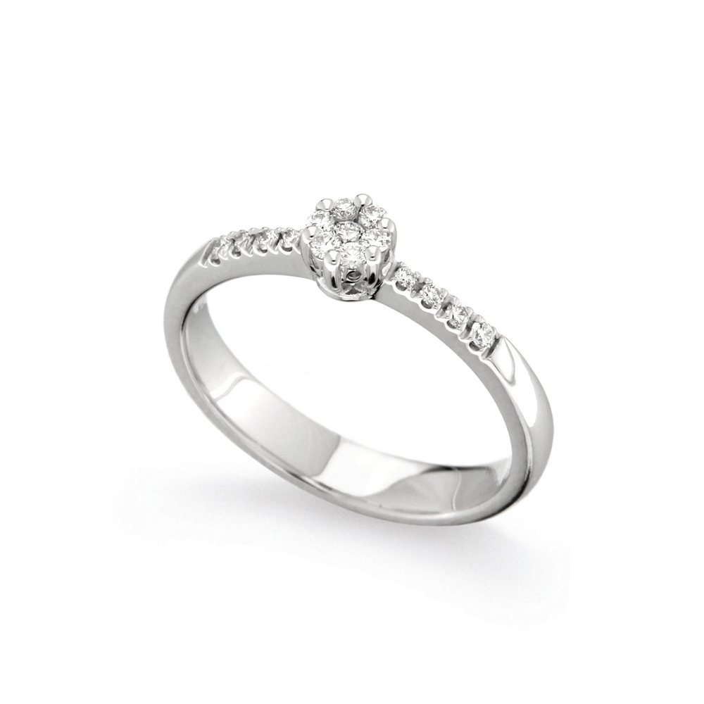 Inel de logodna din aur 18K cu diamante 0,16 ct., model Orsini 2479G-P