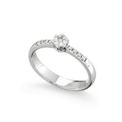 Inel de logodna din aur alb 18K cu diamante 0,16 ct., model Orsini 2479G-P