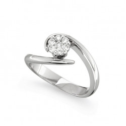 Inel de logodna din aur 18K cu diamante 0,23 ct., model Orsini 2491G