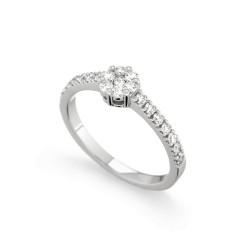 Inel de logodna din aur 18K cu diamante 0,51 ct., model Orsini 2493G-M