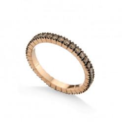 Inel eternity din aur 18K cu diamante brown 0,70 ct., model Orsini 2577G-BW