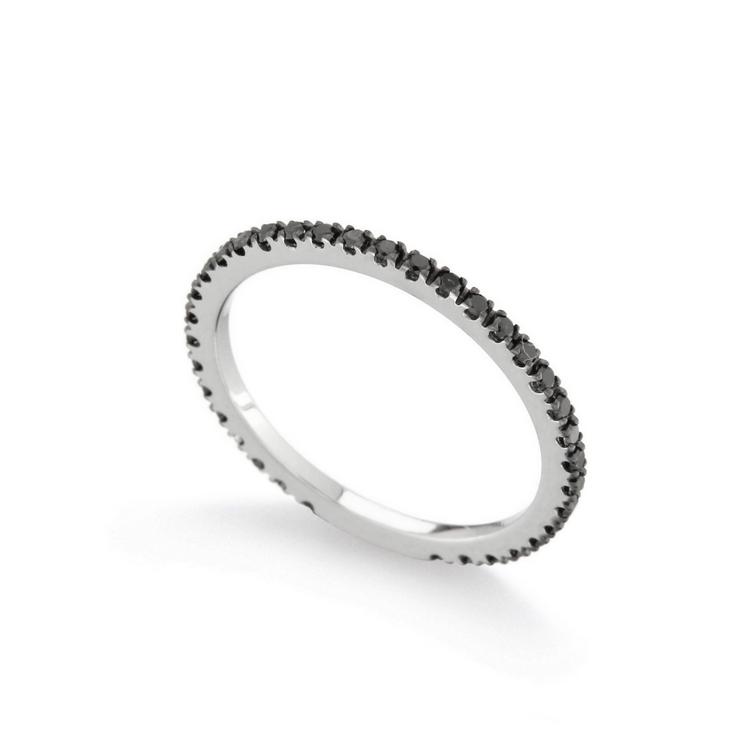 Inel eternity din aur 18K cu diamante negre 0,34 ct., model Orsini 2599G-N
