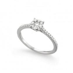 Inel de logodna din aur 18K cu diamante 0,36 ct., model Orsini 2642G-P