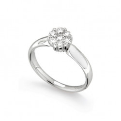 Inel de logodna din aur 18K cu diamante 0,42 ct., model Orsini 2669G-G