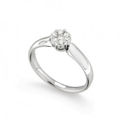 Inel de logodna din aur 18K cu diamante 0,23 ct., model Orsini 2669G-P