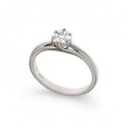 Inel de logodna din aur 18K cu diamante 0,23 ct., model Orsini 2671G-P
