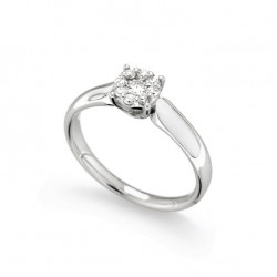Inel de logodna din aur 18K cu diamante 0,22 ct., model Orsini 2674G-P