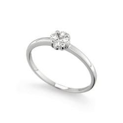 Inel de logodna din aur 18K cu diamante 0,18 ct., model Orsini 2685G