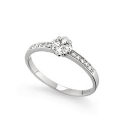 Inel de logodna din aur 18K cu diamante 0,25 ct., model Orsini 2686G