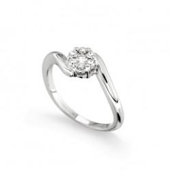 Inel de logodna din aur 18K cu diamante 0,23 ct., model Orsini 2689G