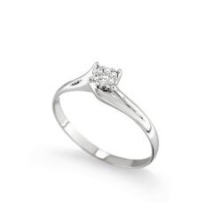 Inel de logodna din aur 18K cu diamante 0,07 ct., model Orsini 2695G