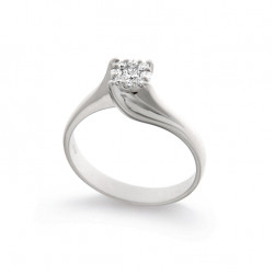 Inel de logodna din aur 18K cu diamante 0,22 ct., model Orsini 2703G