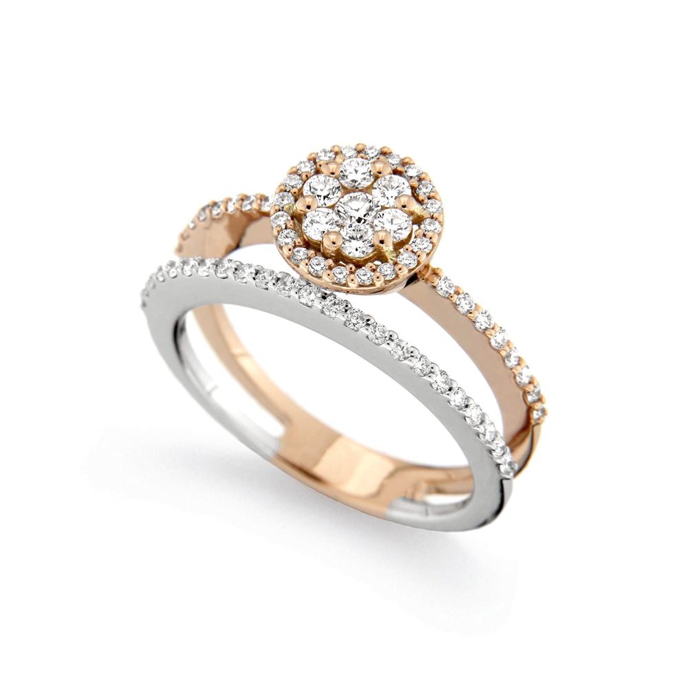 Inel din aur 18K cu diamante 0,61 ct., model Orsini 2707G