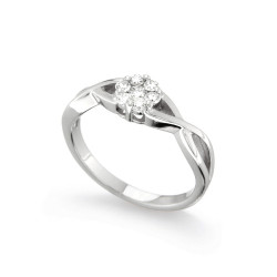 Inel de logodna din aur 18K cu diamante 0,24 ct., model Orsini 2708G