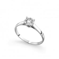 Inel de logodna din aur 18K cu diamante 0,23 ct., model Orsini 2711G-G