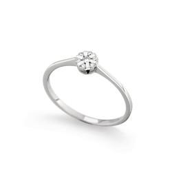 Inel de logodna din aur 18K cu diamante 0,06 ct., model Orsini 2713G