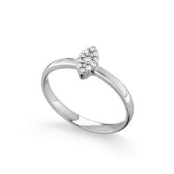 Inel de logodna din aur alb 18K cu diamante 0,11 ct., model Orsini 2723G