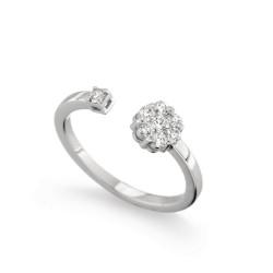Inel din aur alb 18K cu diamante 0,28 ct., model Orsini 2724G