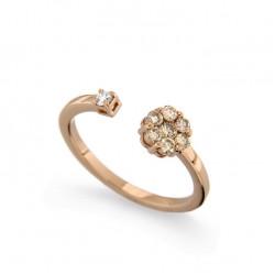 Inel din aur roz 18K cu diamante 0,27 ct., model Orsini 2724G-BW1