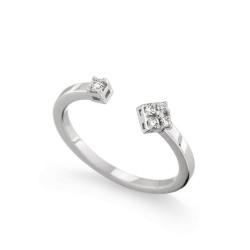 Inel din aur alb 18K cu diamante 0,10 ct., model Orsini 2725G
