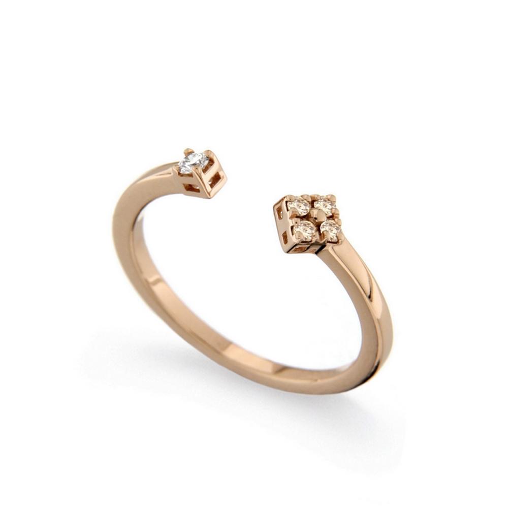 Inel din aur 18K cu diamante 0,10 ct., model Orsini 2725G-BW1