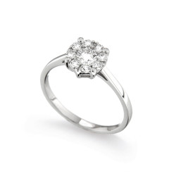 Inel de logodna din aur 18K cu diamante 0,57 ct., model Orsini 2732G-G