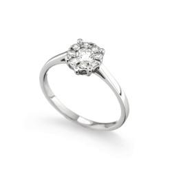Inel de logodna din aur 18K cu diamante 0,38 ct., model Orsini 2732G-M