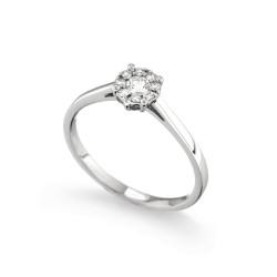 Inel de logodna din aur 18K cu diamante 0,20 ct., model Orsini 2732G-P
