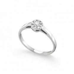 Inel de logodna din aur 18K cu diamante 0,21 ct., model Orsini 2742G-G