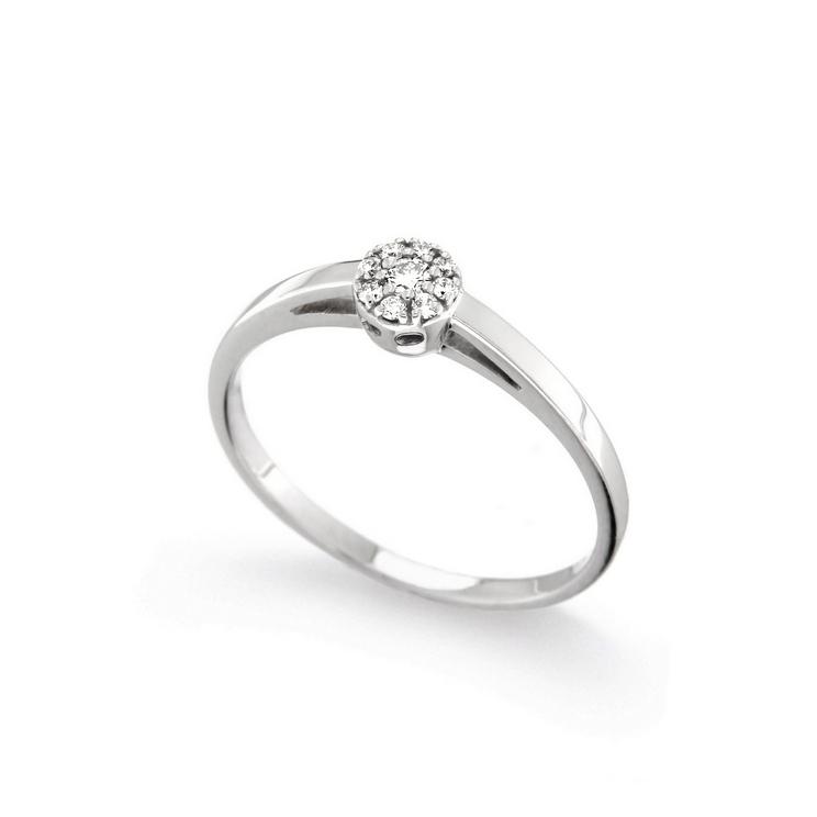 Inel de logodna din aur 18K cu diamante 0,10 ct., model Orsini 2742G-P