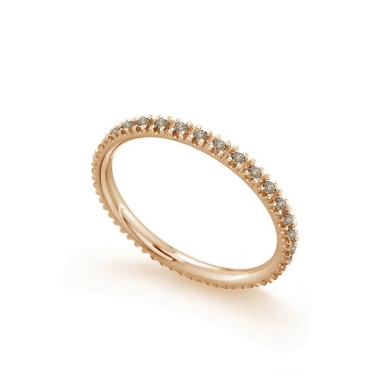 Inel eternity din aur 18K cu diamante brown 0,35 ct., model Orsini 2747G-BW